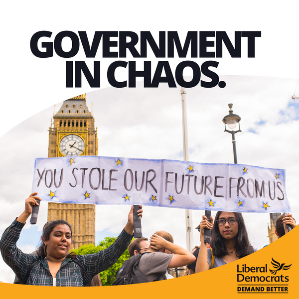 Govt in Chaos (by Liberal Democrats)