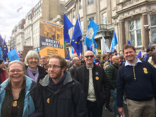 Sevenoaks Lib Dems at Million March