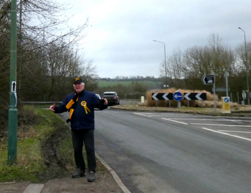 Tom at the proposed entrance to Covers Farm Quarry (Tom Mackay)