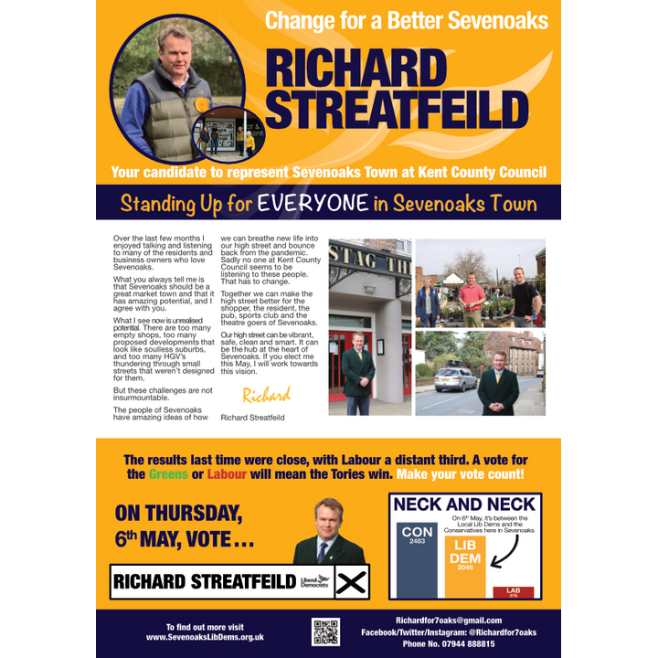 Richard For Sevenoaks Leaflet Page 1 (Sevenoaks Lib Dems)