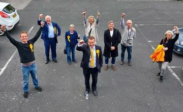 Richard Streatfeild and his team (Sevenoaks Lib Dems)